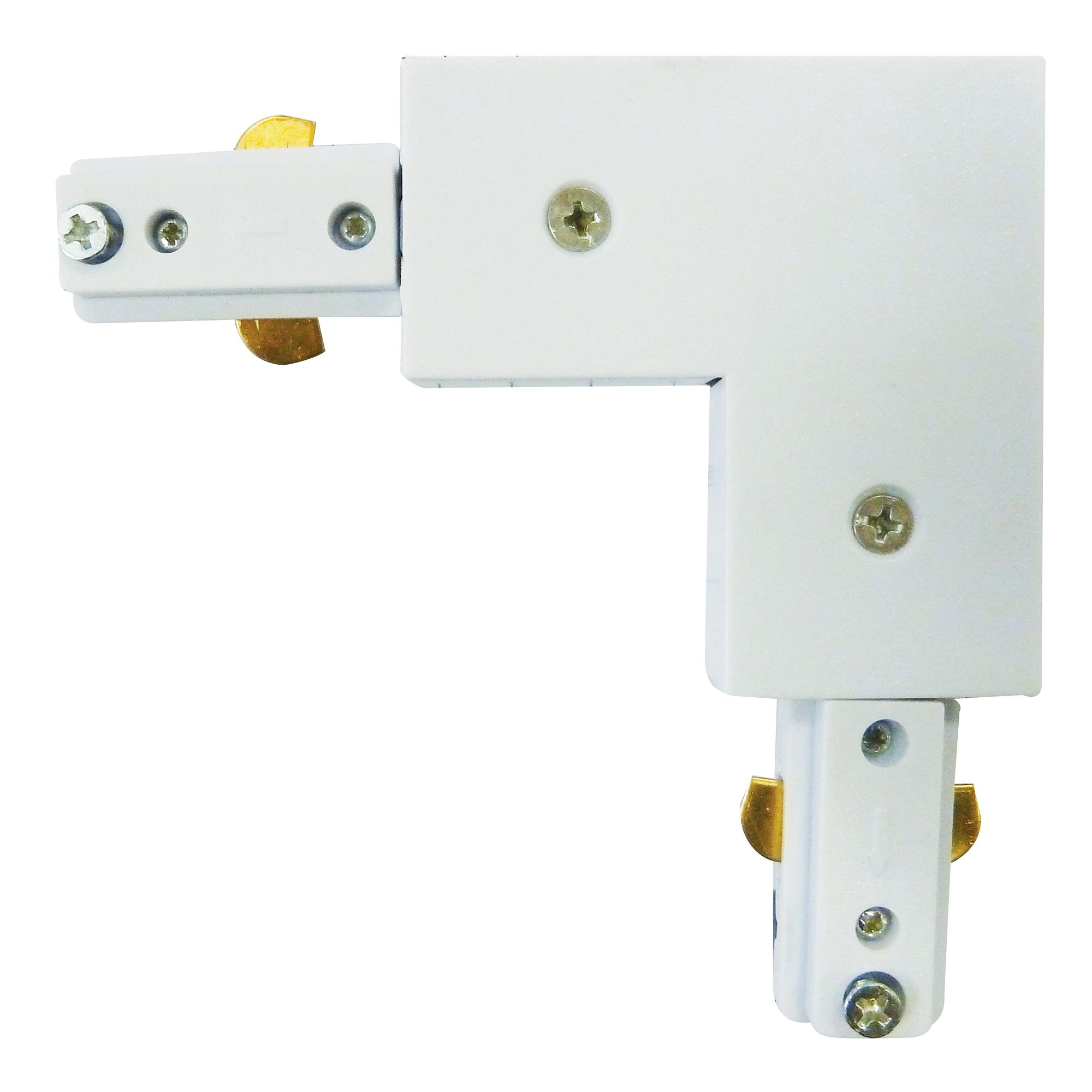 Track Painted White Right Angle 2 Way Connector For Tr4801wh
