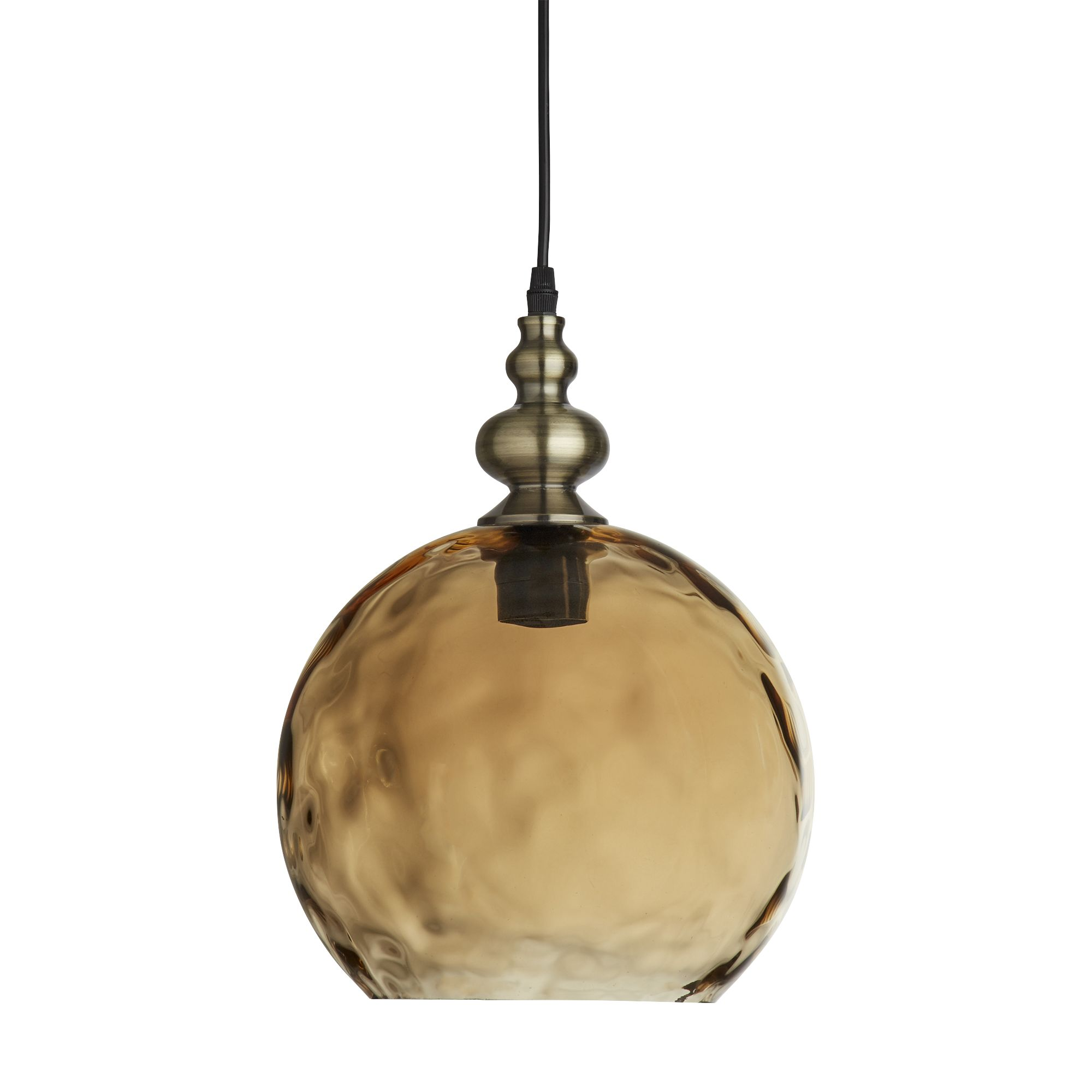 Picture of: Indiana Antique Brass Globe Pendant Light With Dimpled Glass Shade