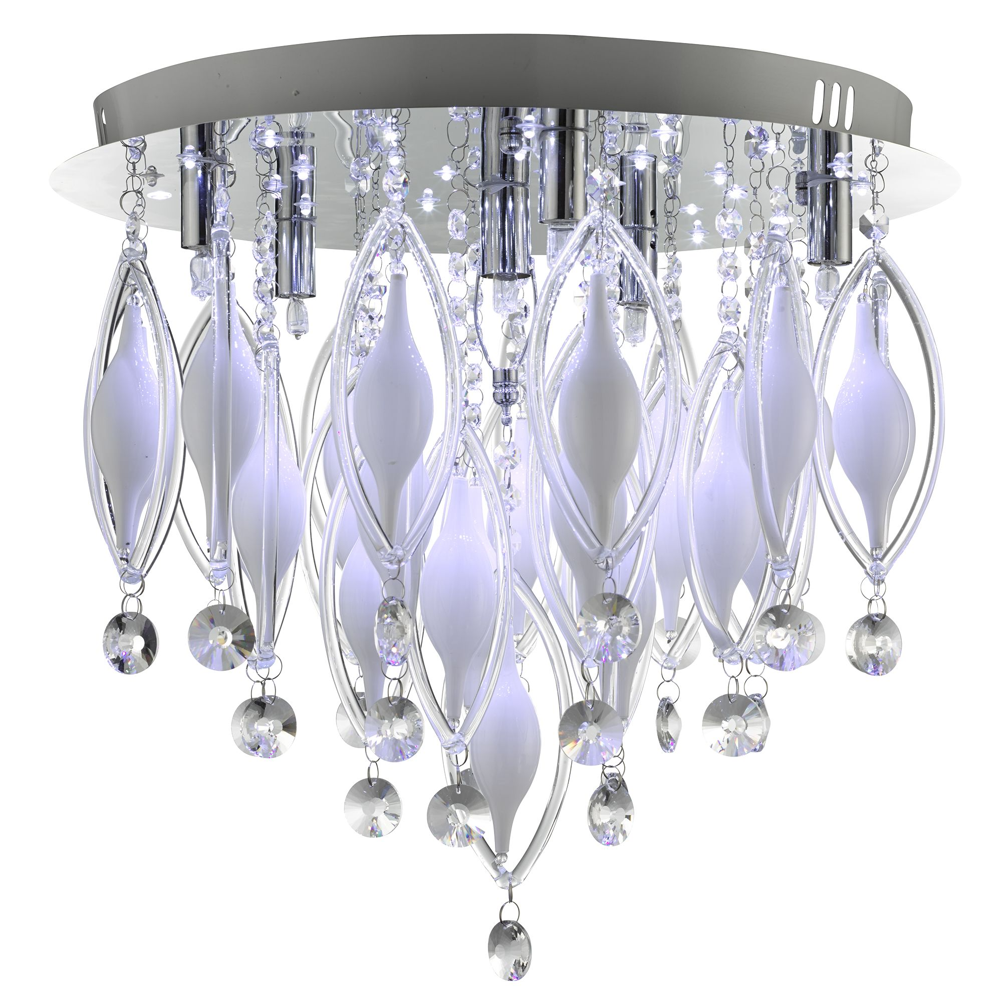 Spindle Chrome 6 Led Fitting With Colour Changing Glass & Remote Control