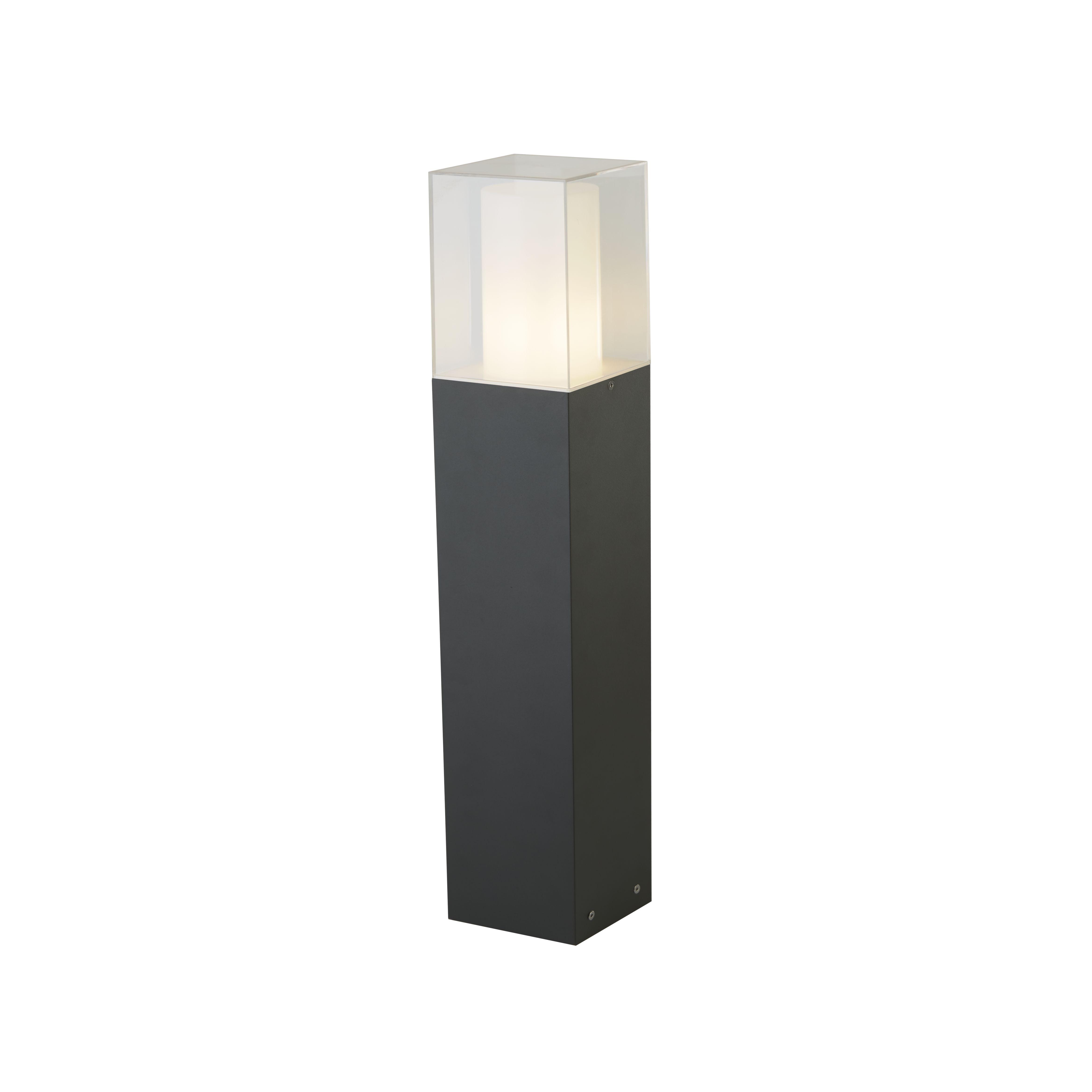 Square Outdoor Post, 450cm, Dark Grey/white