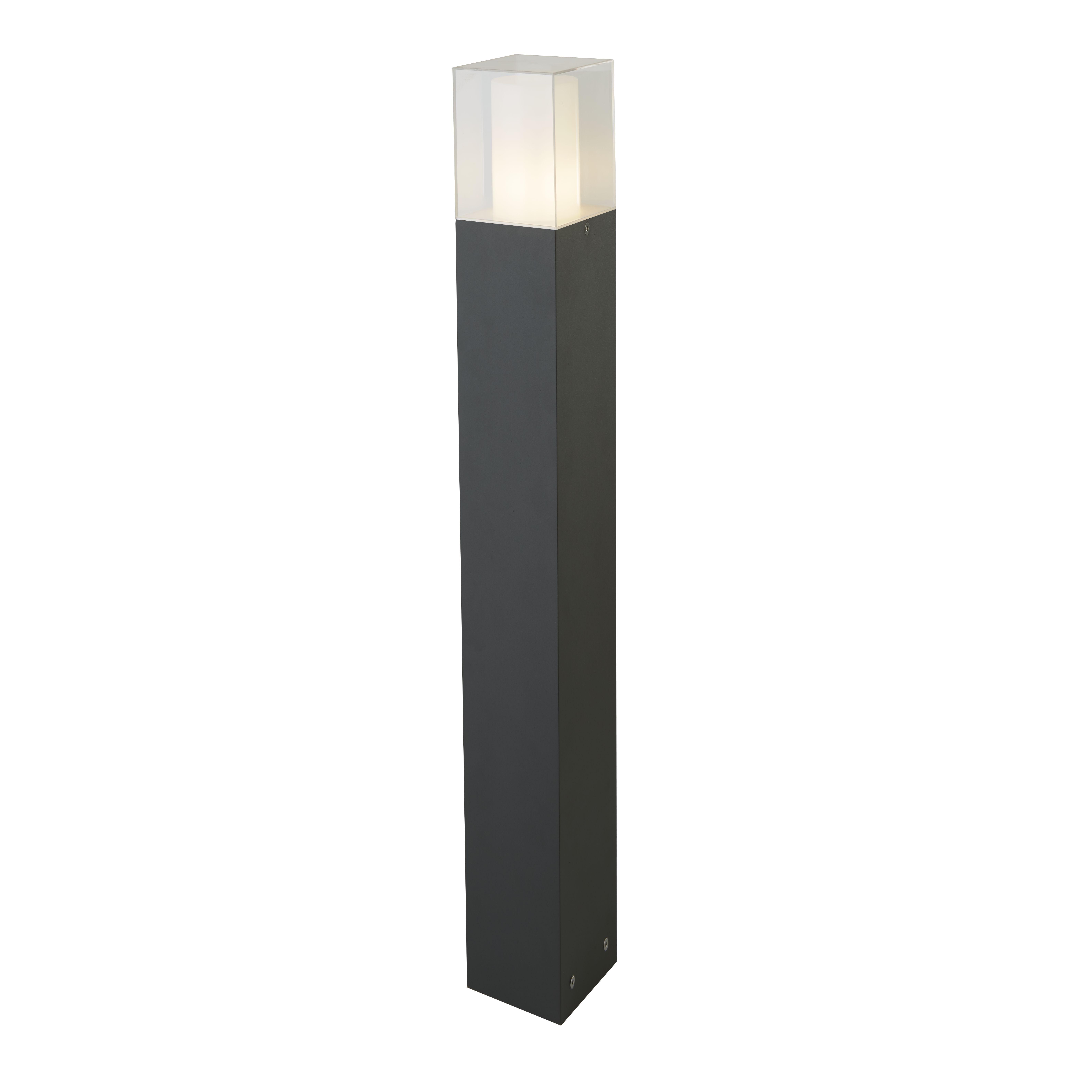 Square Outdoor Post, 900cm, Dark Grey/white