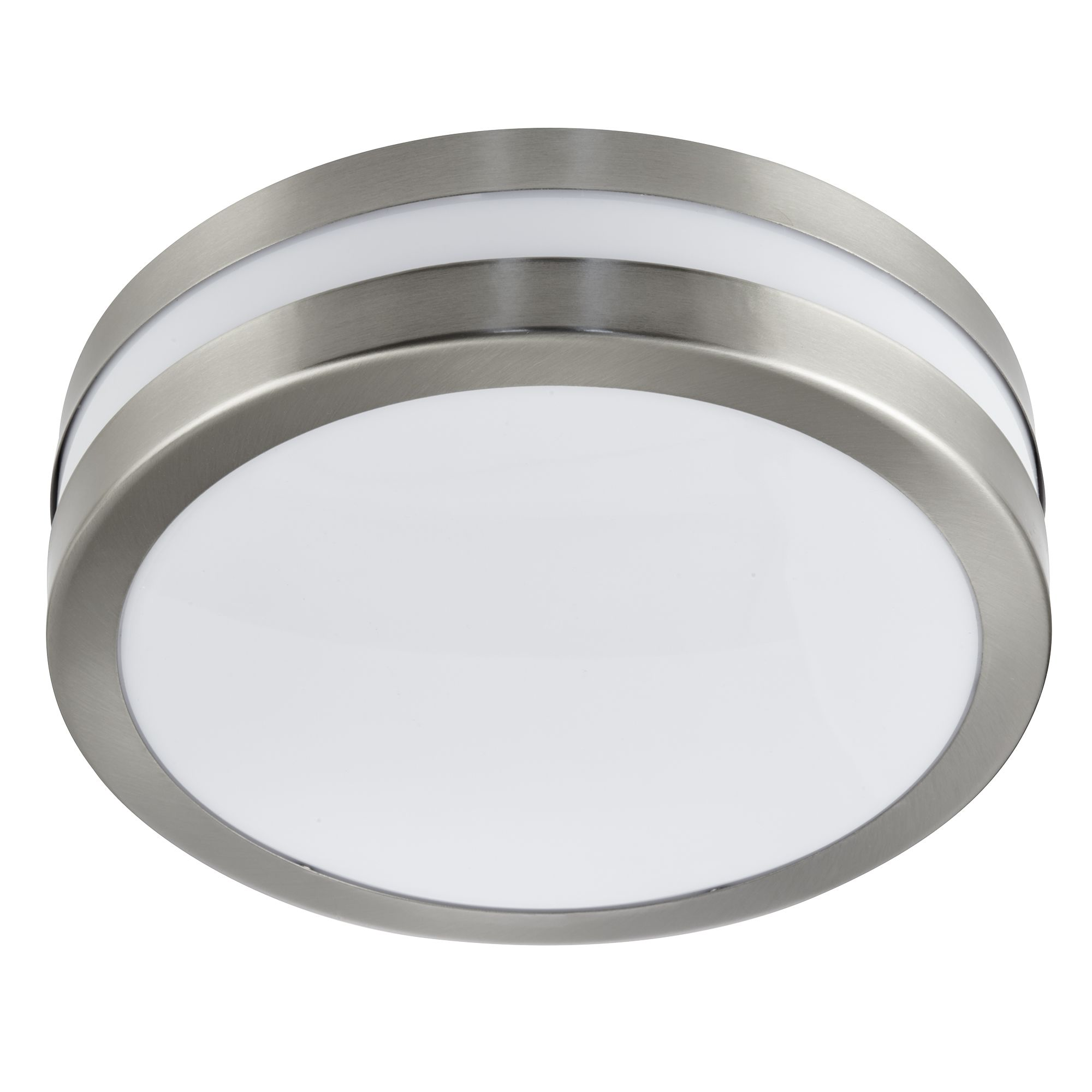 Stainless Steel Ip44 2 Light Flush Outdoor With Polycarbonate Diffuser