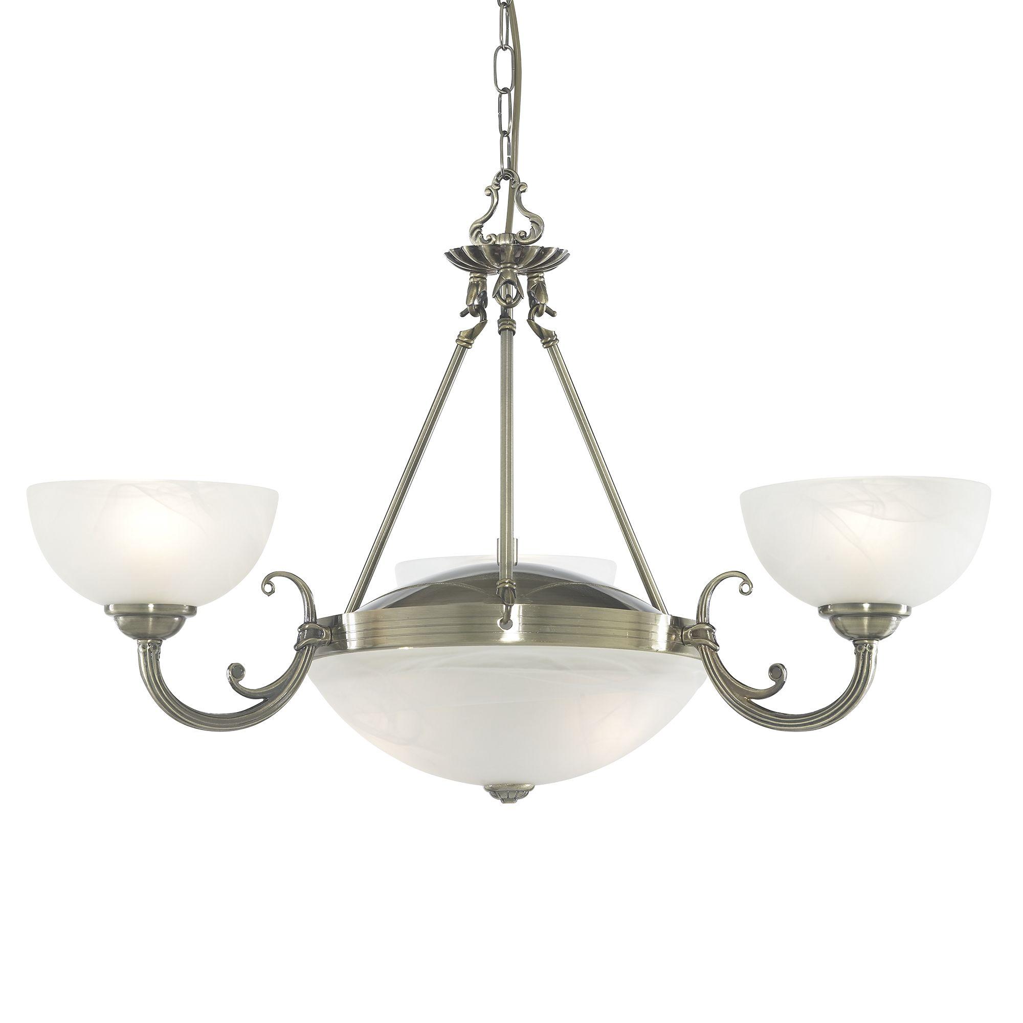 Windsor Antique Brass Wall Light Fitting Alabaster Glass Shade Interior Lights