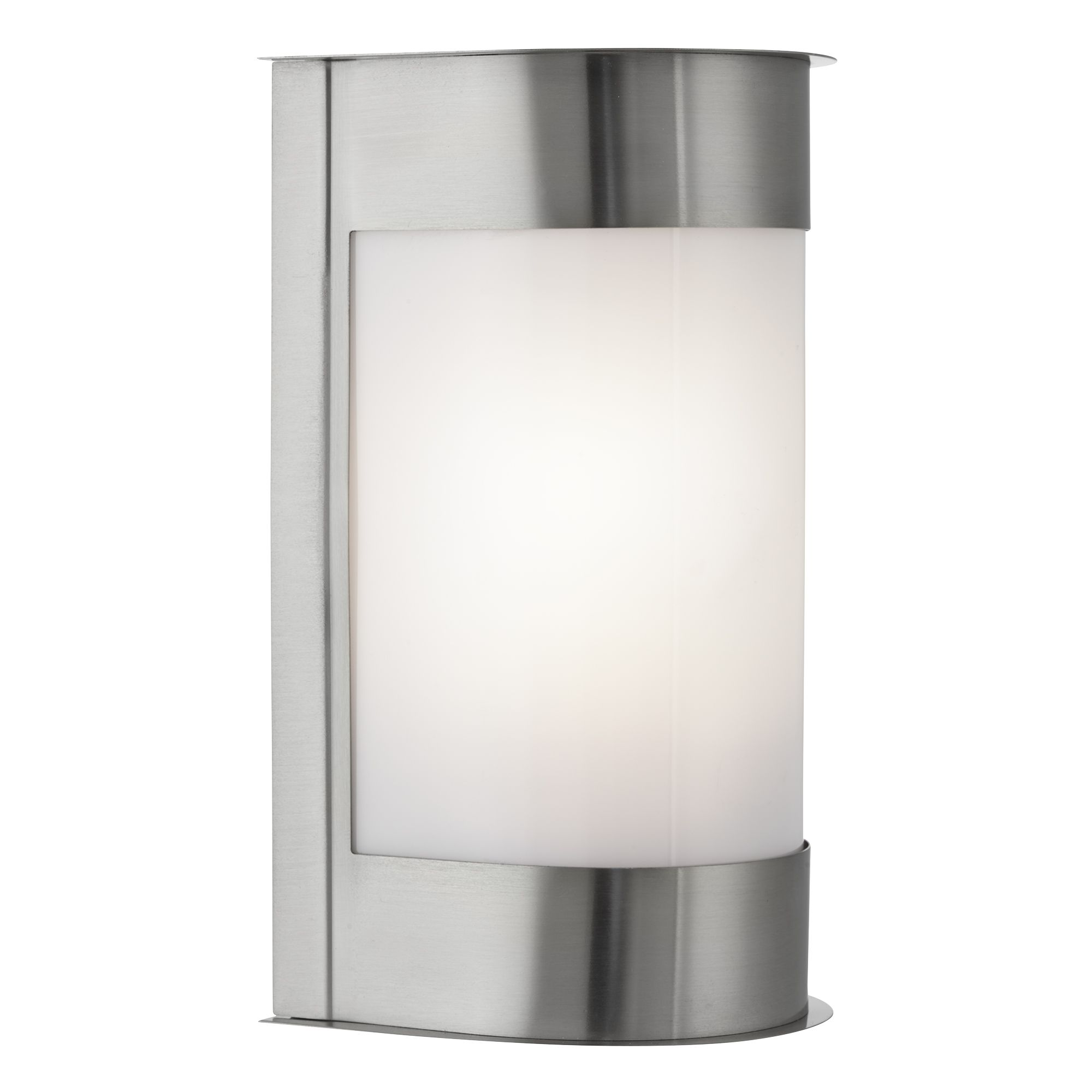 Stainless Steel Ip44 Curved  Light With Polycarbonate Diffuser W/b