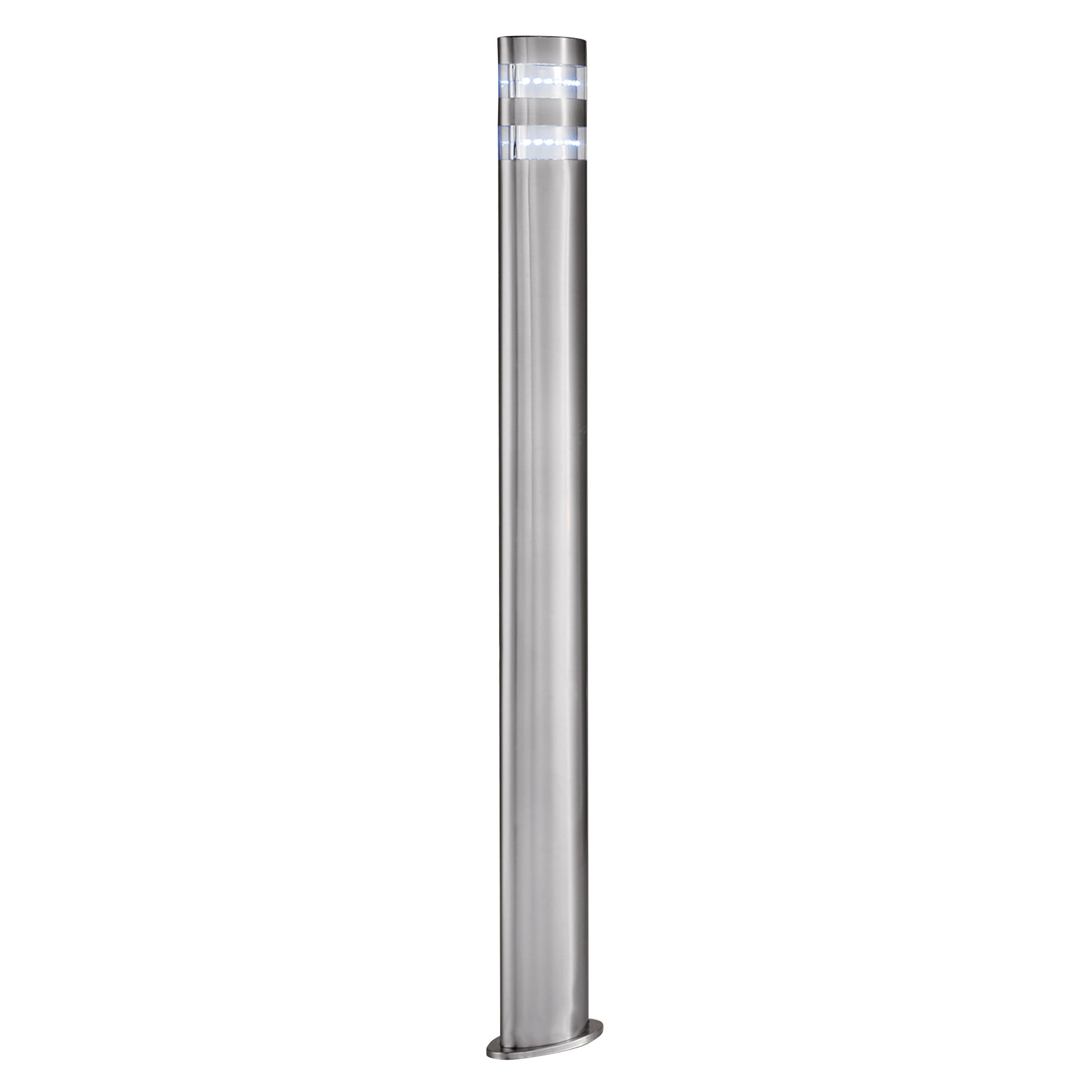 Stainless Steel Ip44 24 Led Outdoor Post Light With Clear Polycarbonate Diffuser