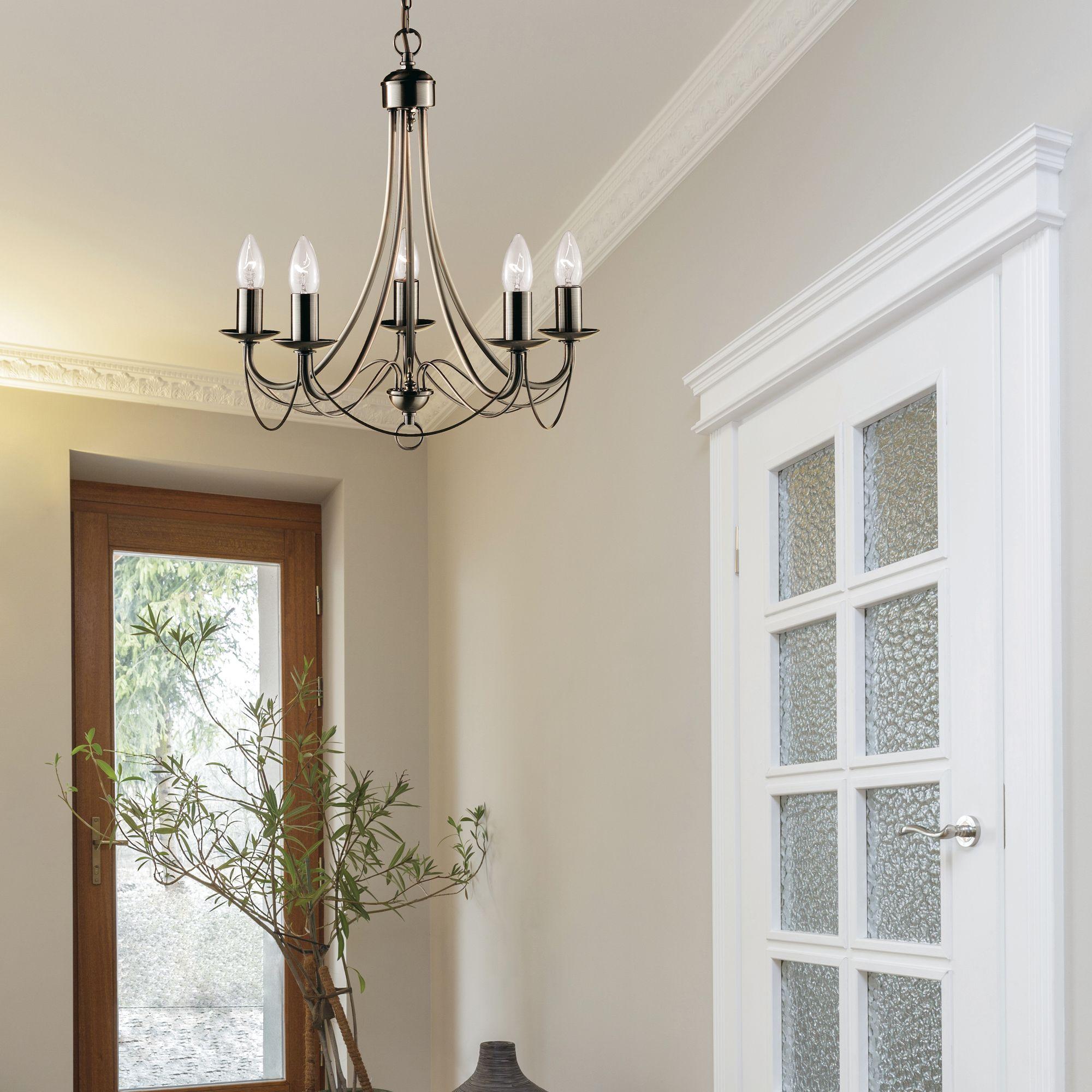 Swell Maypole Antique Brass 5 Light Multi Arm Fitting Birdcage Interior Design Ideas Tzicisoteloinfo