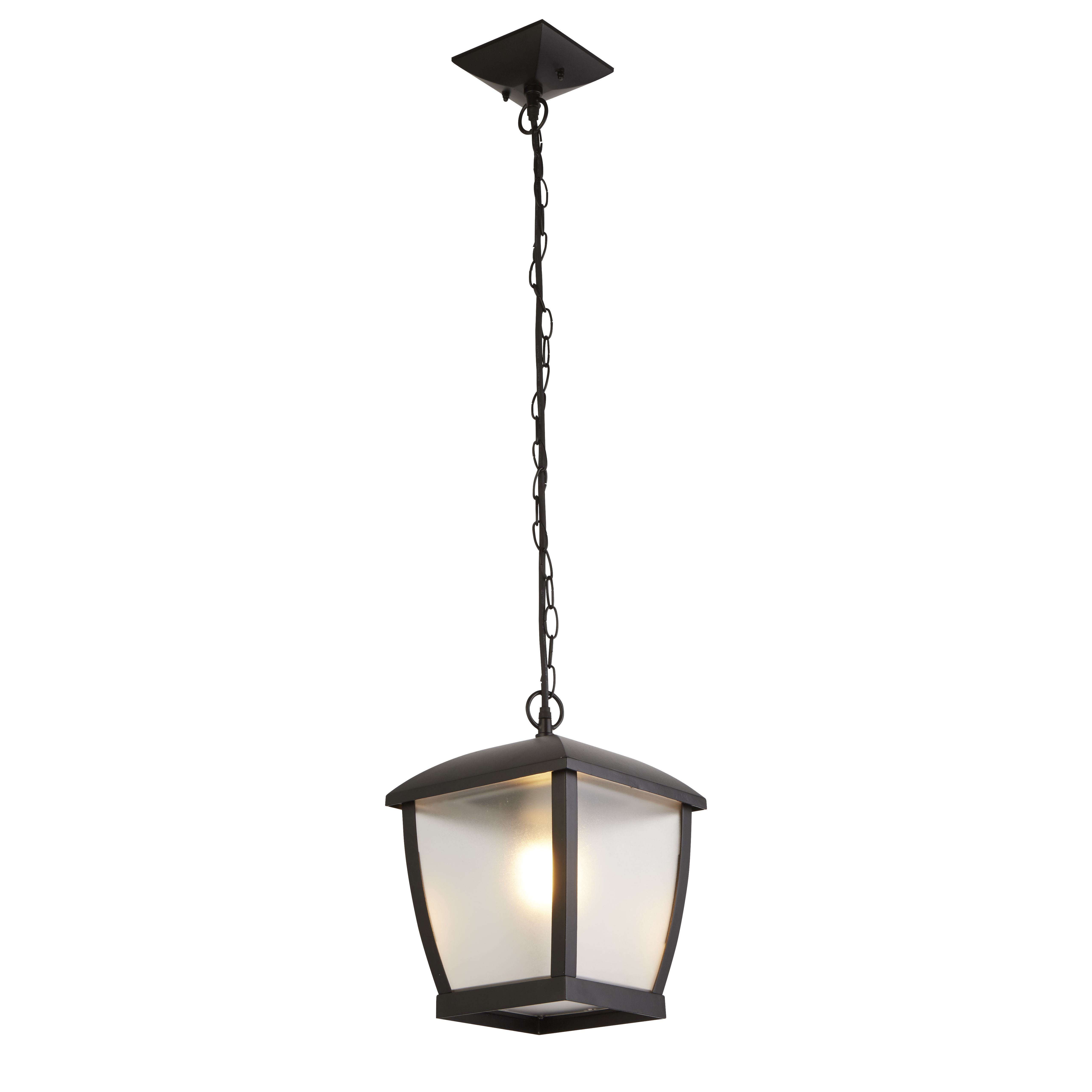 Seattle Outdoor Pendant Black With Clear Acrylic Panels