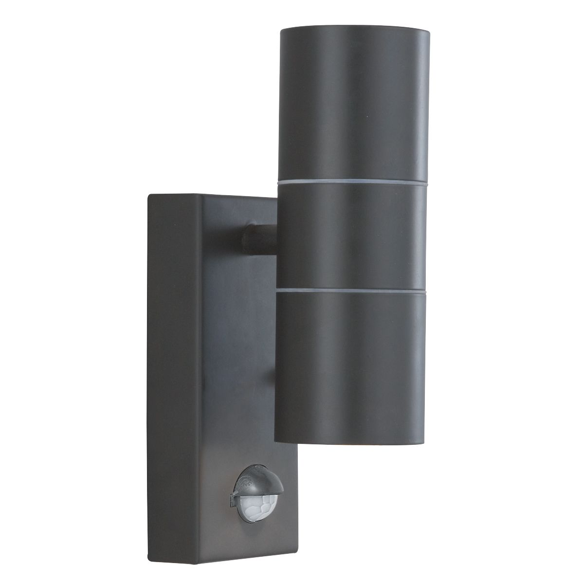Stainless Steel Black Ip44 2 Light Outdoor Light With Motion Sensor