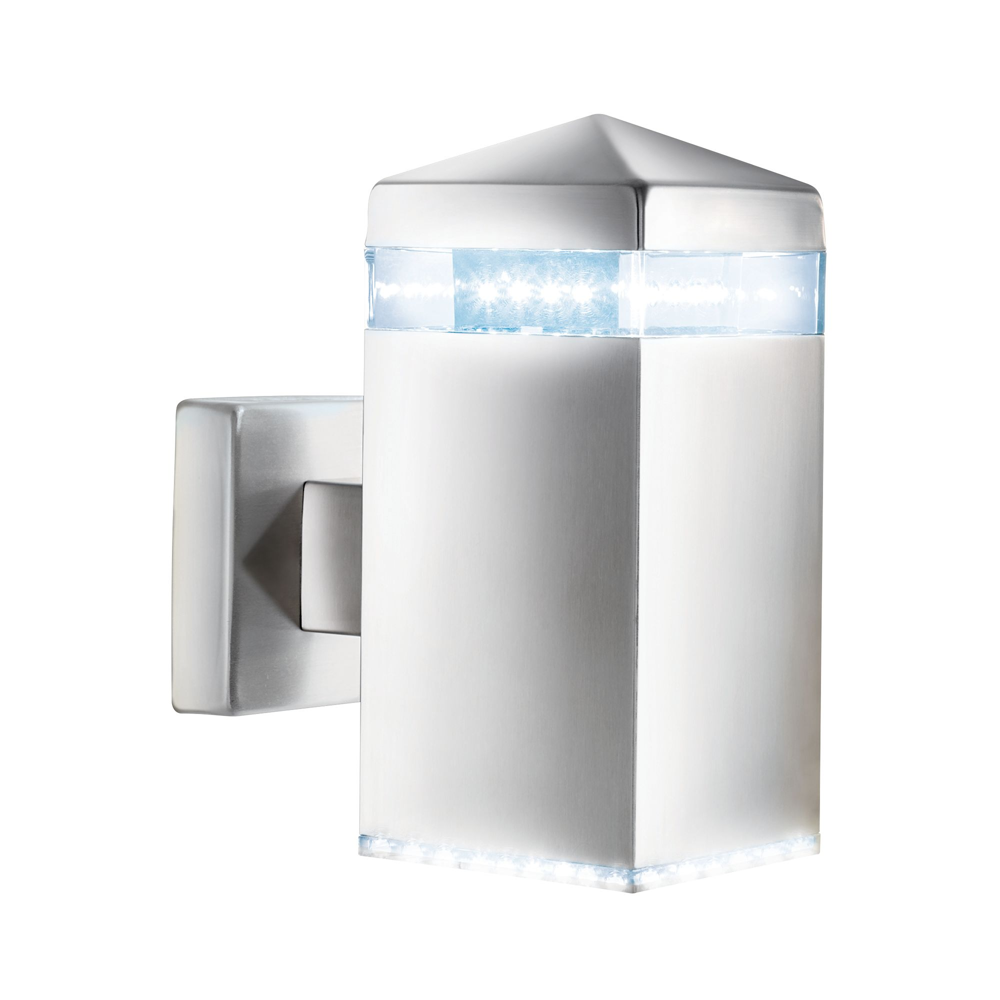 Stainless Steel Ip44 Led Outdoor Wall Light With Clear Diffuser
