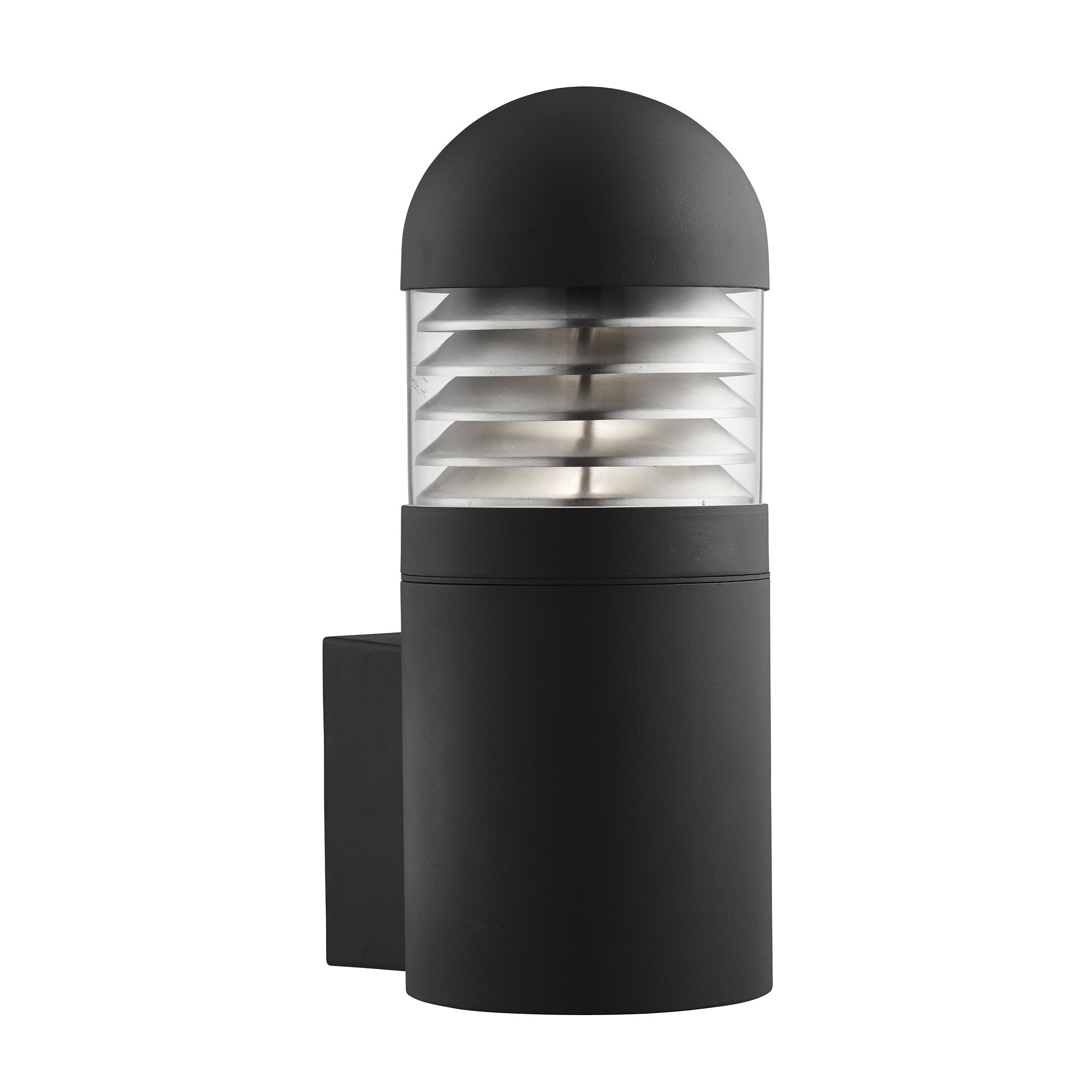 Black Ip44 Outdoor Wall Light With Polycarbonate Diffuser