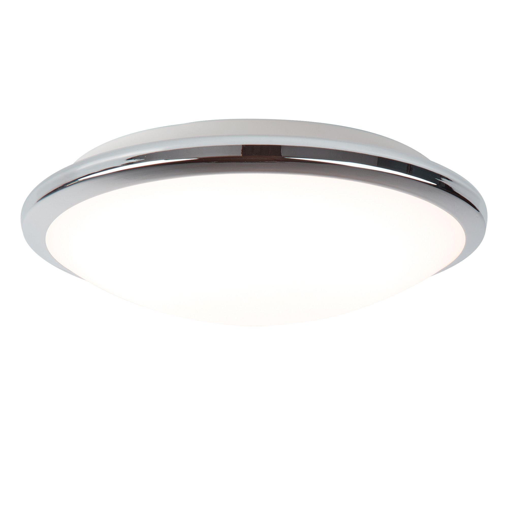 Searchlight 7938-30CC LED Flush Ceiling Light Polished Chrome IP44