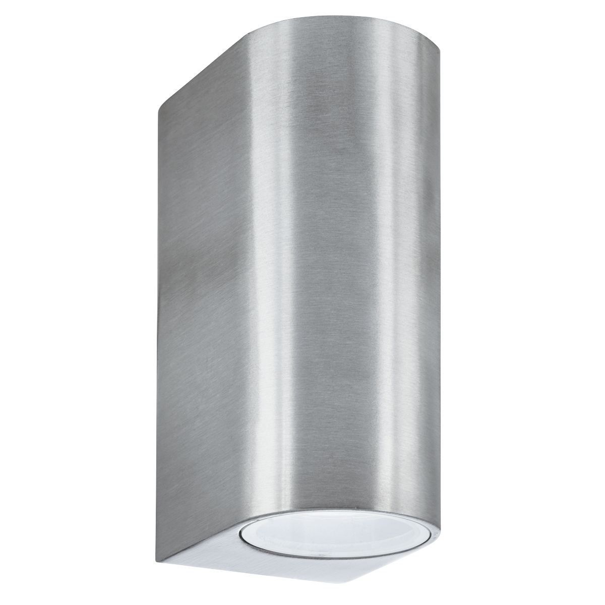 Silver Ip44 2 Light Outdoor Light With Die Cast Aluminium & Fixed Glass Lens
