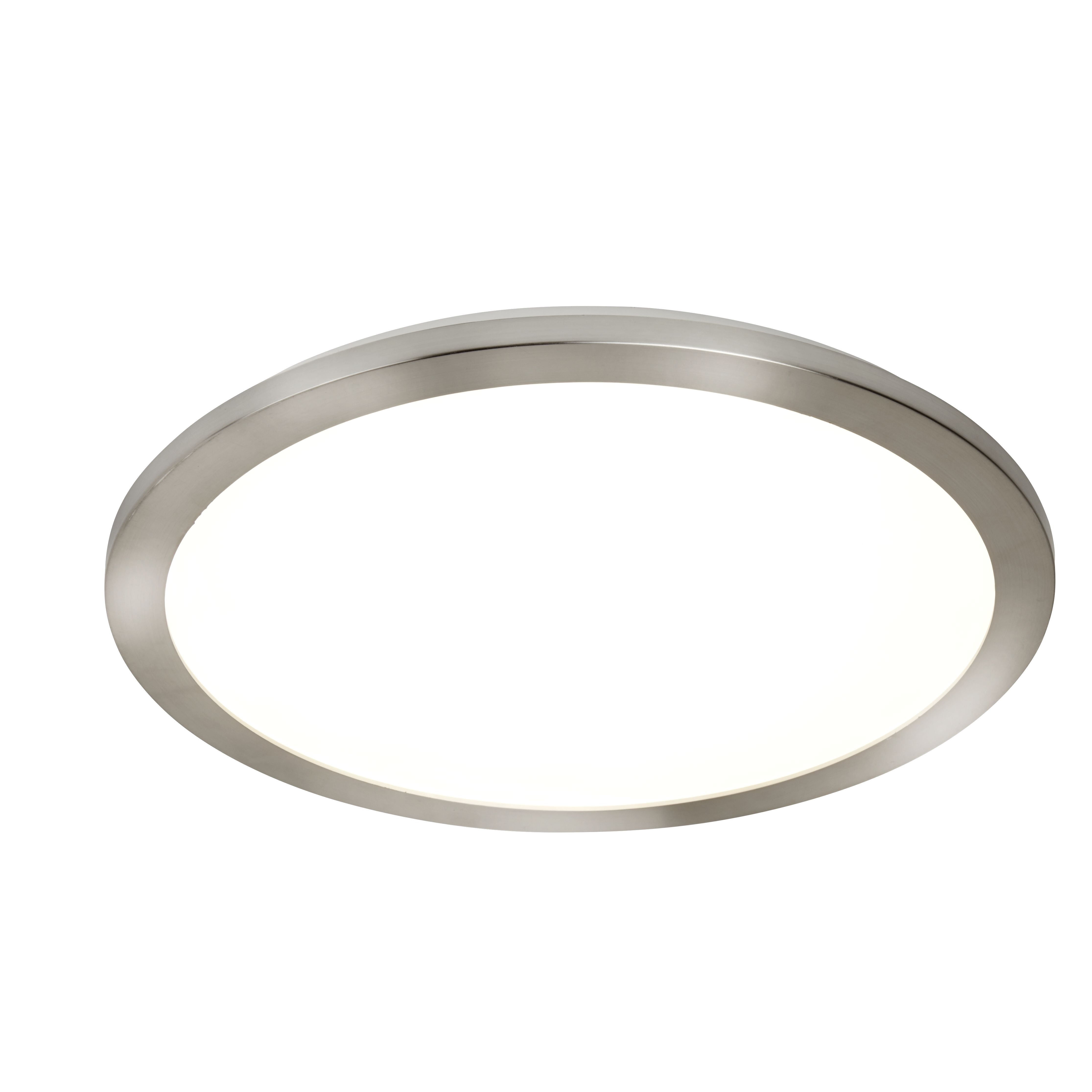 Searchlight 702SS Satin Silver Round Flush Ceiling Light Fixture