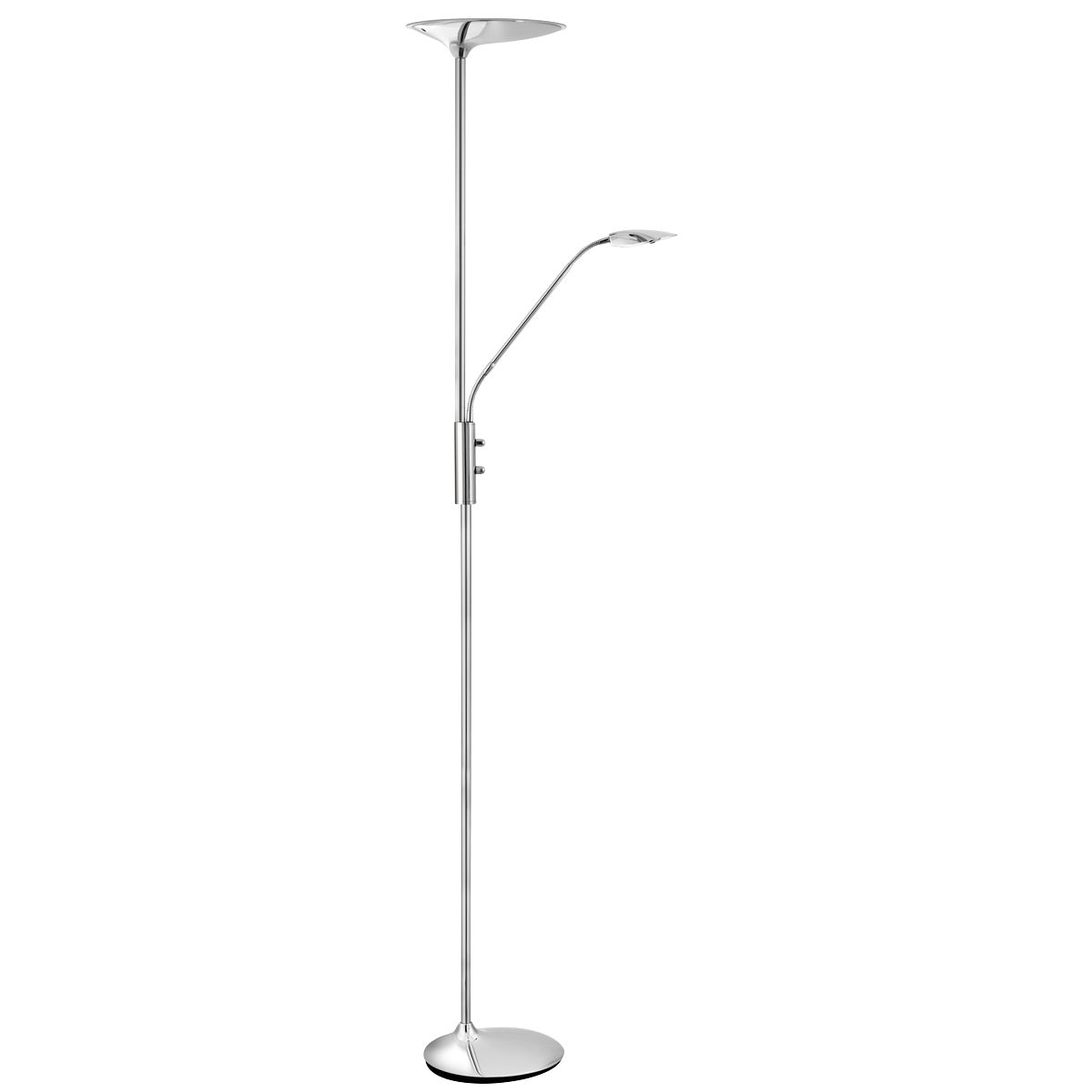 Chrome Led Mother And Child Floor Lamp, Double Dimmer Switch
