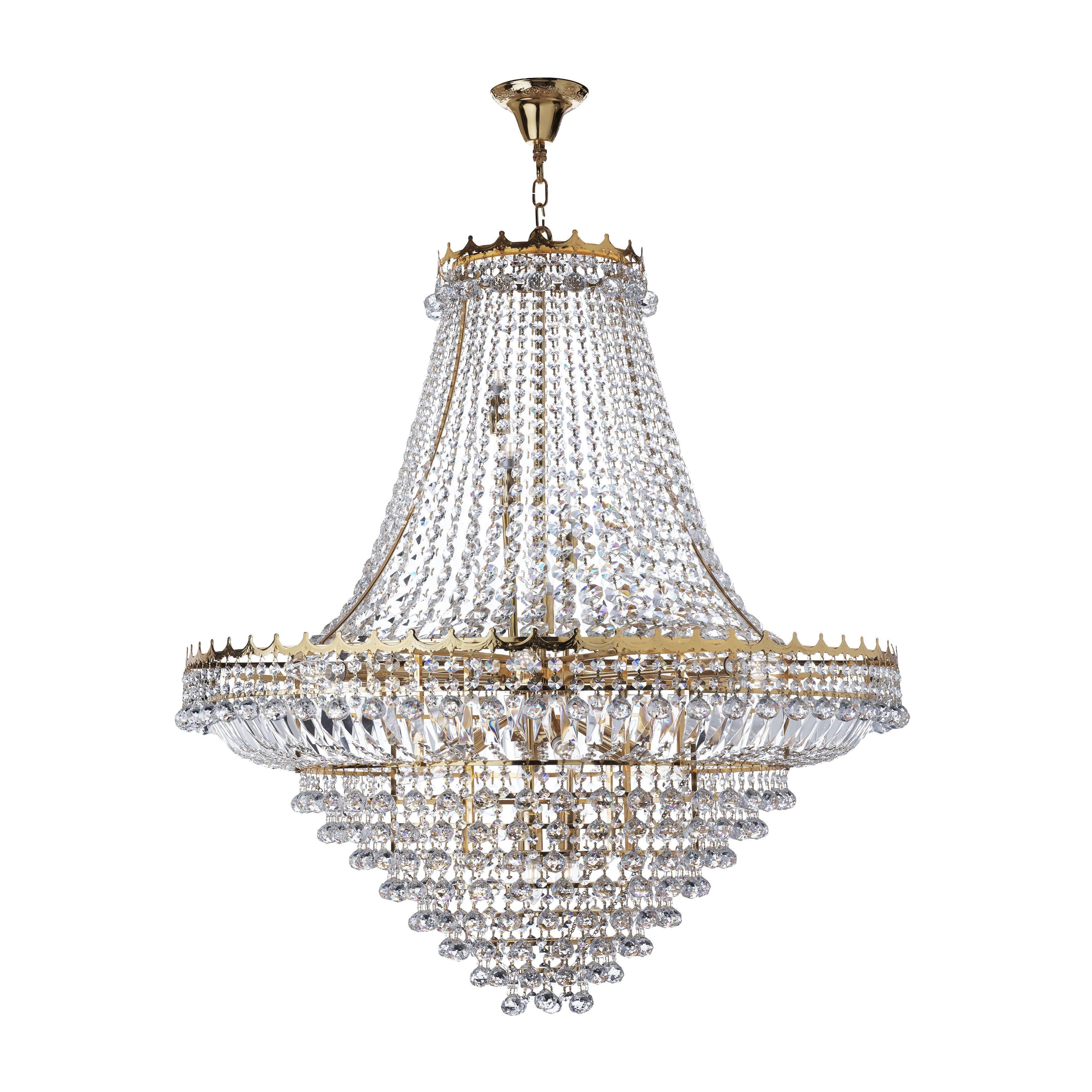 Versailles Extra Large Gold Finish 19 Light Crystal Chandelier 9112 102GO
