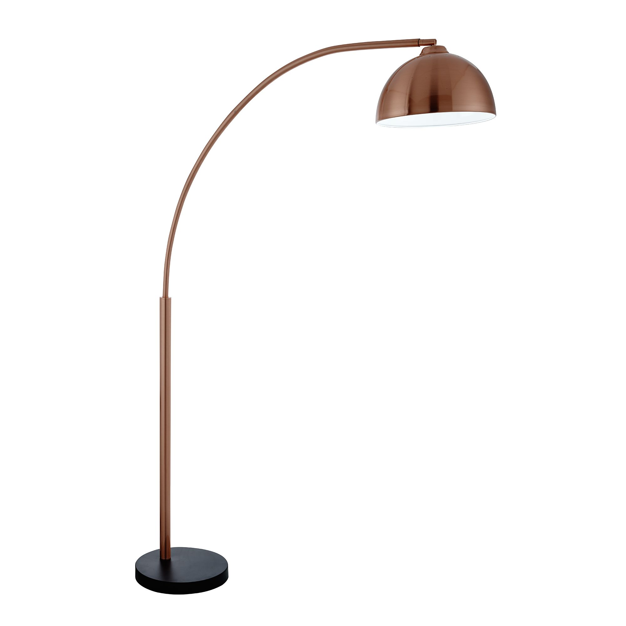 FLOOR LAMP WITH DOME SHAPED METAL SHADE