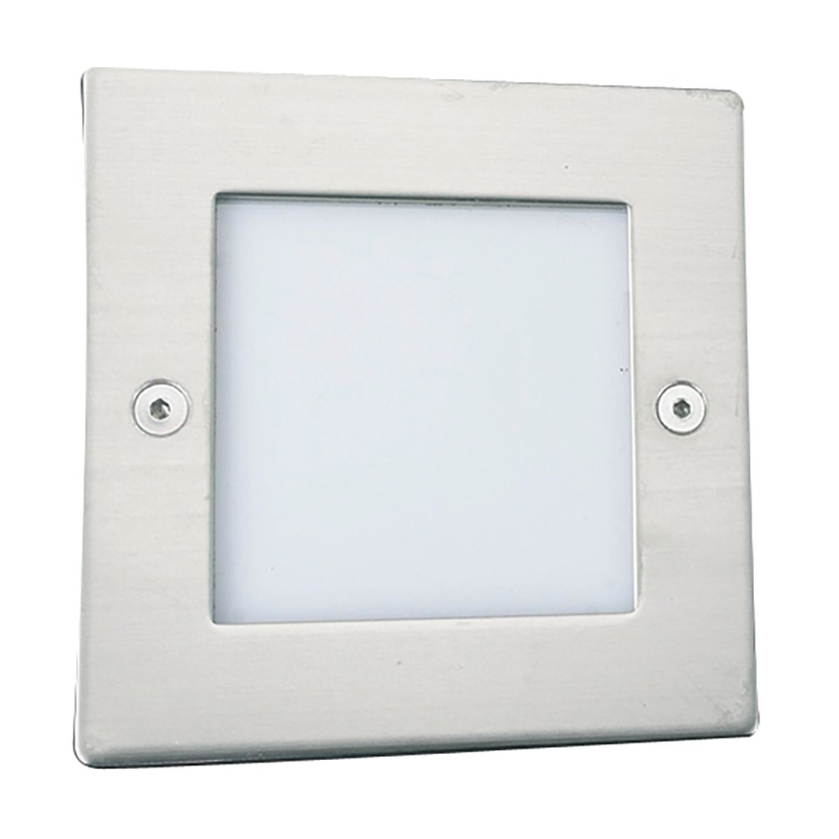 Stainless Steel 9 Led Square Recessed Light With Translucent Diffuser