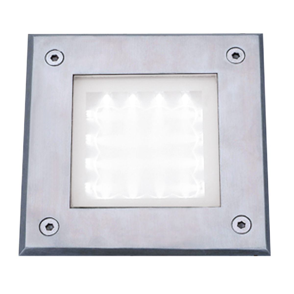 Stainless Steel Ip68 16 Led Recessed Square Walkover With White Led Light