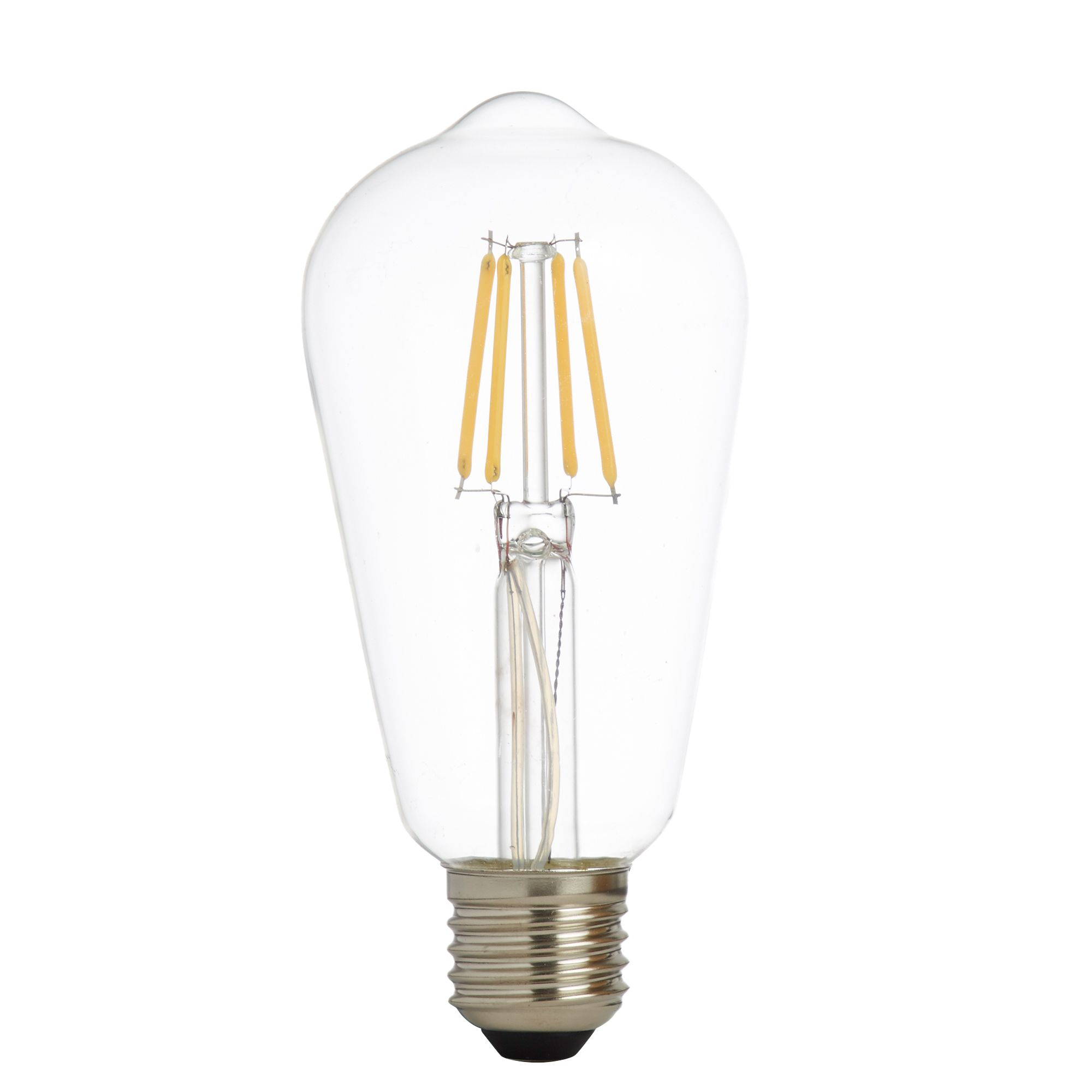 Pack X 5 - Led Filament Squirrel Lamp, Clear Glass, E27 6w, 600lm 3000k