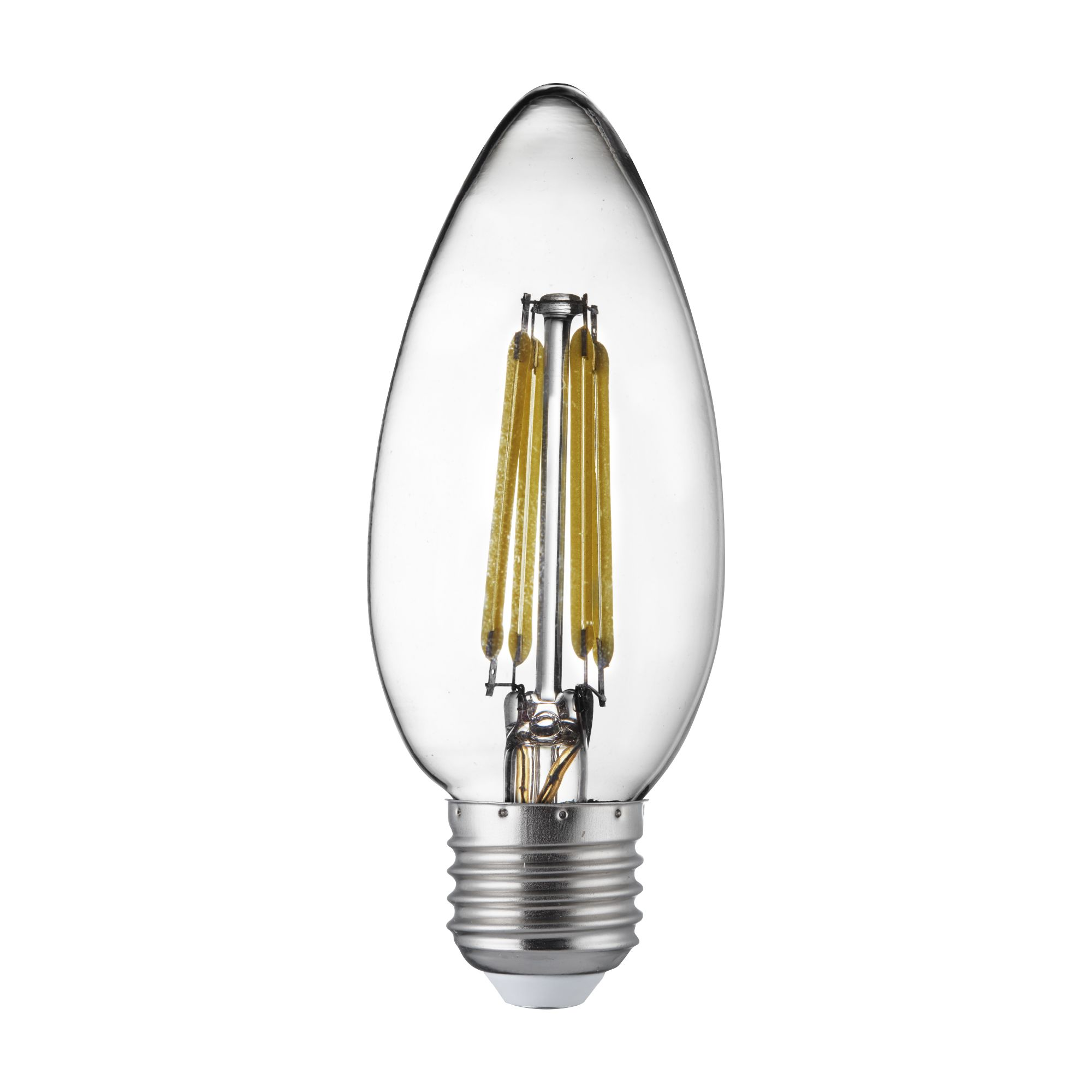 Pack X 10 - Dimmable E27 Led Filament Candle Lamp - 4.5w, 400lm, Warm White 2700