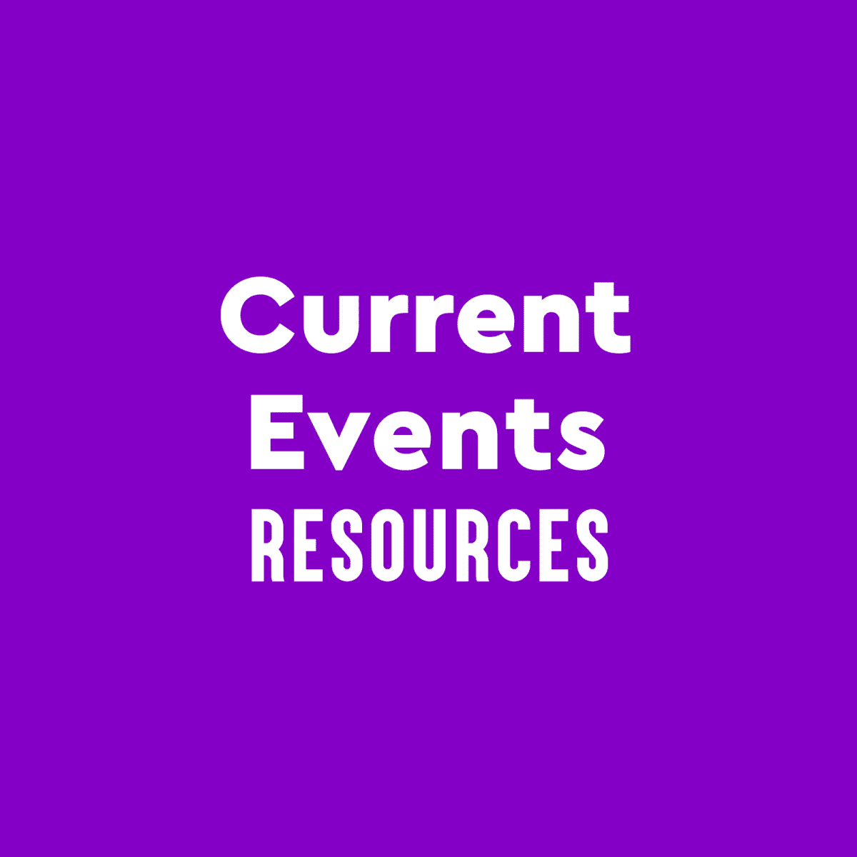 Image representing Current Events Resources