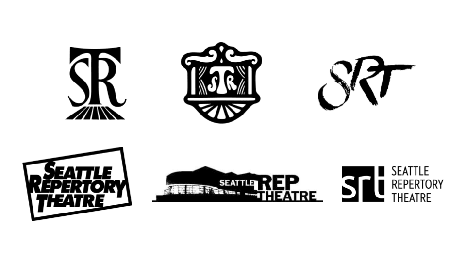 Seattle Rep Past Logos