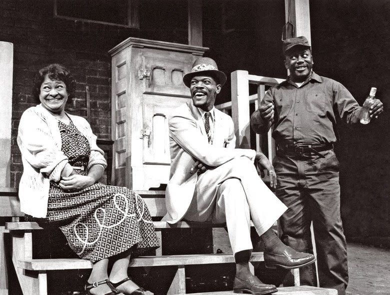 Frances Foster Samuel L Jackson and Robert Colston in Fences 1986 tiwdk8