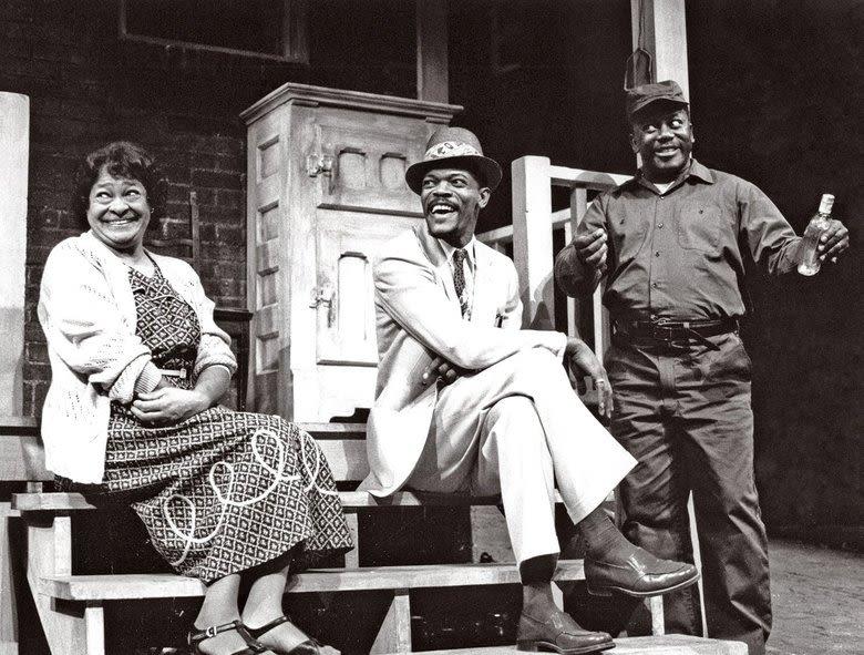Frances Foster Samuel L Jackson and Robert Colston in Fences 1986 gjo9zo