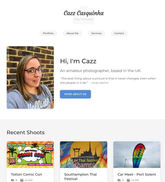 Screenshot of Cazz Photography