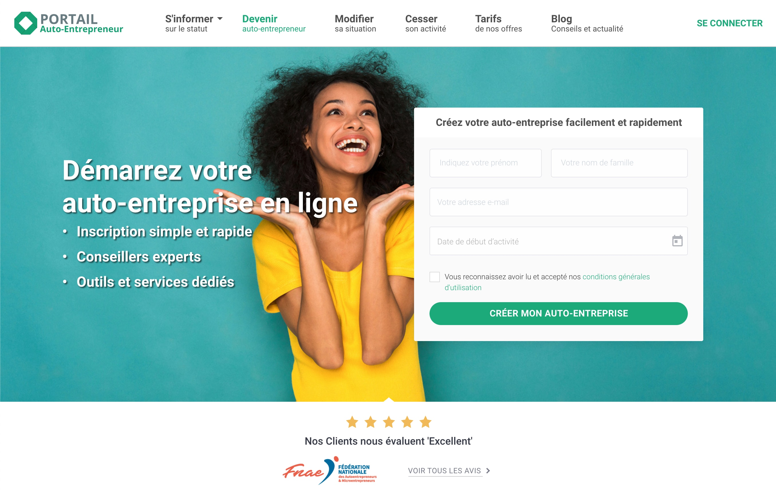 Le Portail Auto-Entrepreneur is a support service facilitating all the steps needed to create a self-business. Auto-Entrepreneur portal counts more than 50,000 self-entrepreneurs united since 2013 around a common objective: to give themselves the capacity and the means to start a professional activity with ease. The Auto-Entrepreneur Portal is also a support service, entirely independent of the public administration, made up of many dedicated advisers who support you every day in the development and success of your self-business creation projects. We are aware that starting out as an auto-entrepreneur (micro-enterprise regime since 2016) is the result of a difficult exercise, which is why we give each person precise information personalized according to your sector of activity.