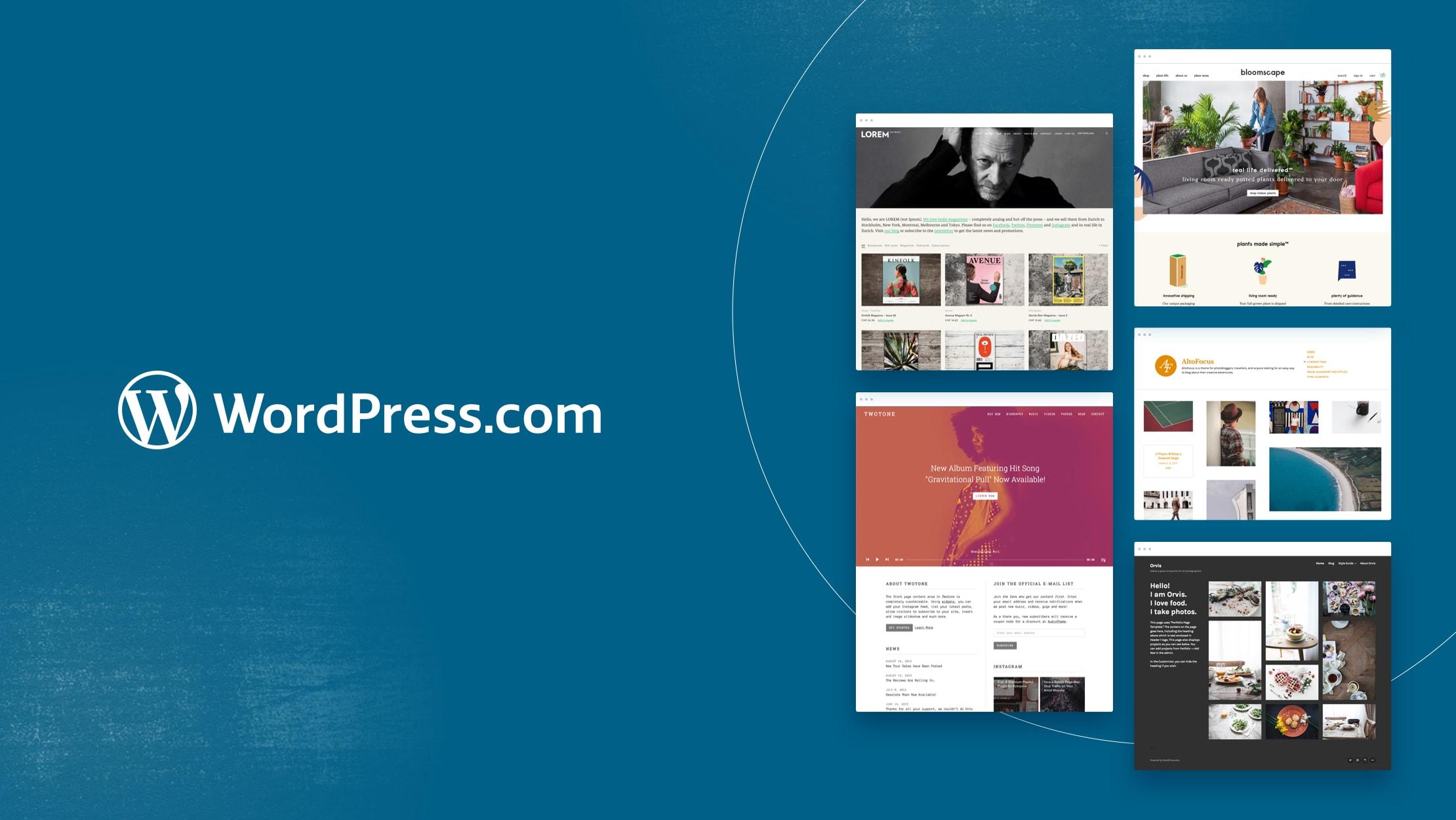 WordPress.com a pour mission de démocratiser la publication sur le web, site après site. La plateforme WordPress est la plateforme de publication en ligne la plus populaire : elle est utilisée dans plus de 36% du Web. Notre outil est une version hébergée du logiciel open source Wordpress. Il vous permet de créer un blog ou un site Web en quelques secondes, même si vous n'avez aucune connaissance technique. Au total, le réseau WordPress.com compte plus de 409 millions de personnes, consultant plus de 15,5 milliards de pages chaque mois. Nos utilisateurs publient chaque mois environ 41,7 millions de nouveaux messages et laissent 60,5 millions de nouveaux commentaires.