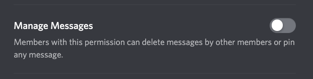 Discord manage messages permission pane