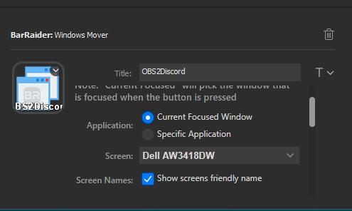 Current focused window option