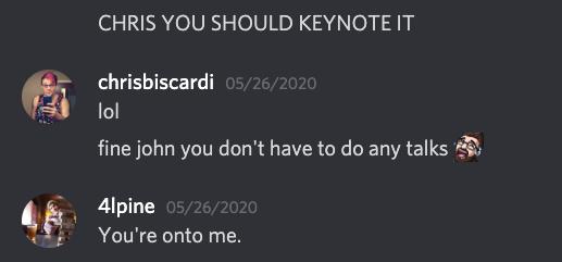 John doesn't want to speak