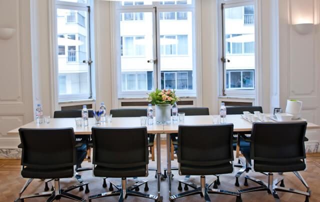 Des salles de travail à disposition pour vous et vos collaborateurs.