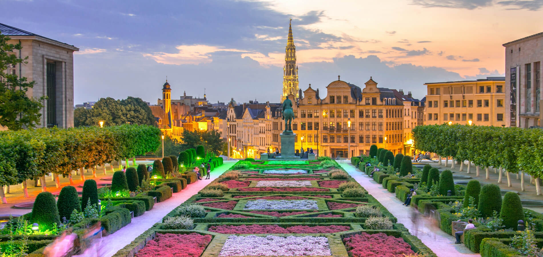 Le siège social de son entreprise au coeur de l'Europe, près de Bruxelles.