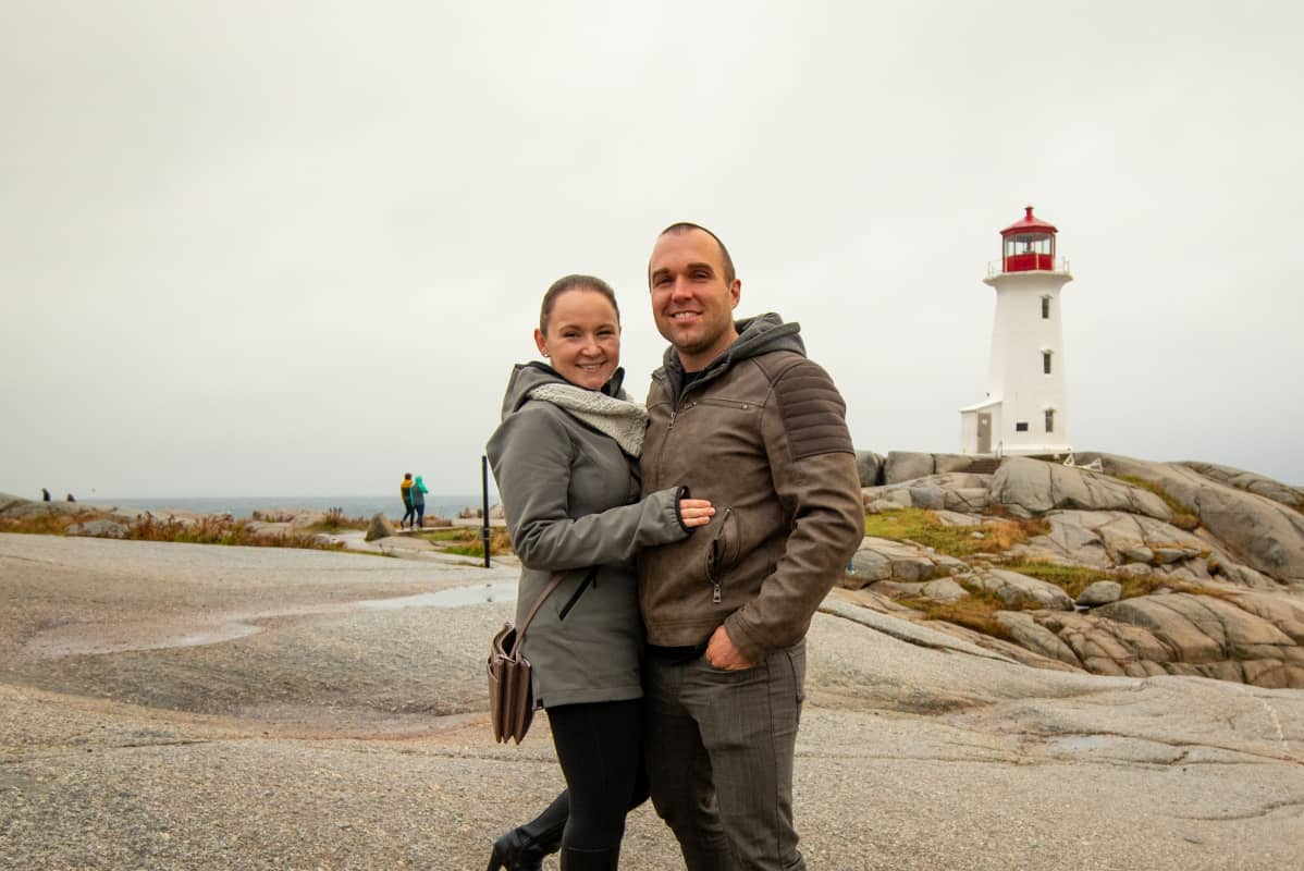 Couple at Peggy's Cove