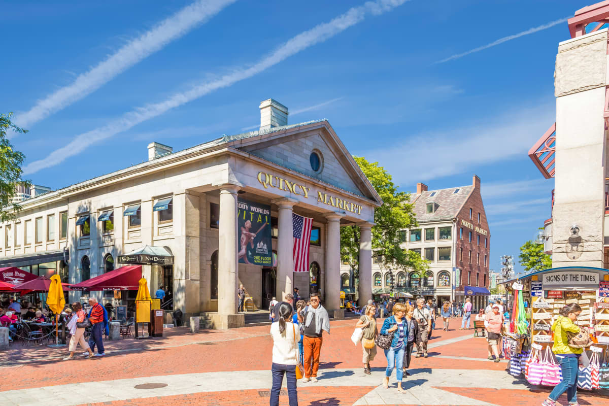 Outside Quincy Market