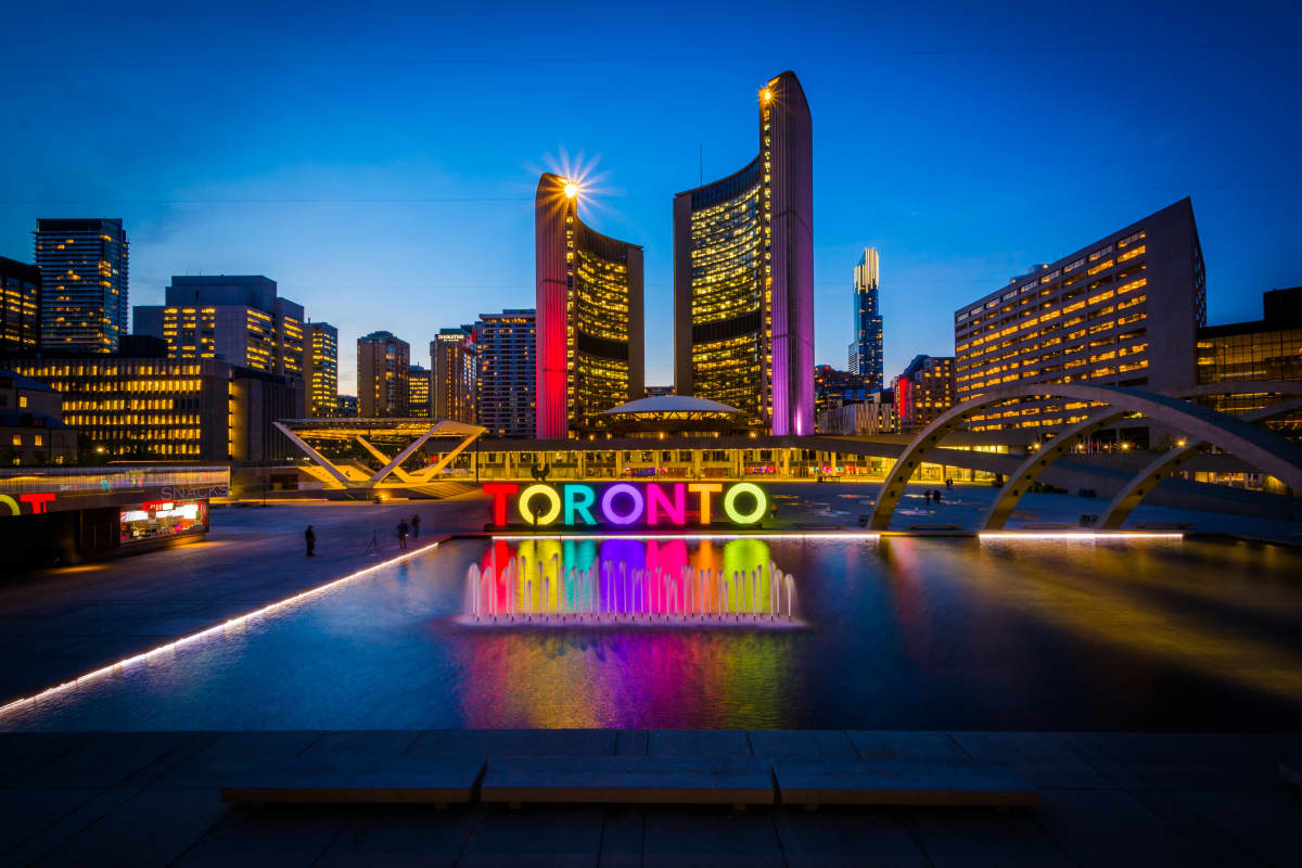 Nathan Phillips Square at Night