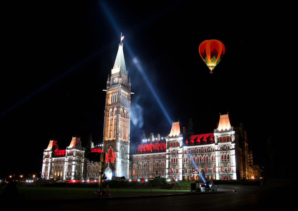 Sound and Light Show on Parliament Hill Ottawa