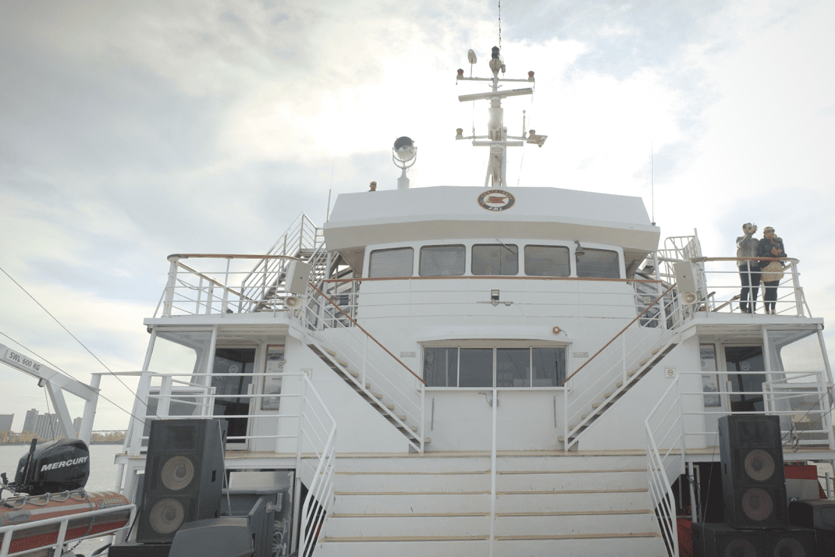 Couple on Croisieres AML Cruise Boat