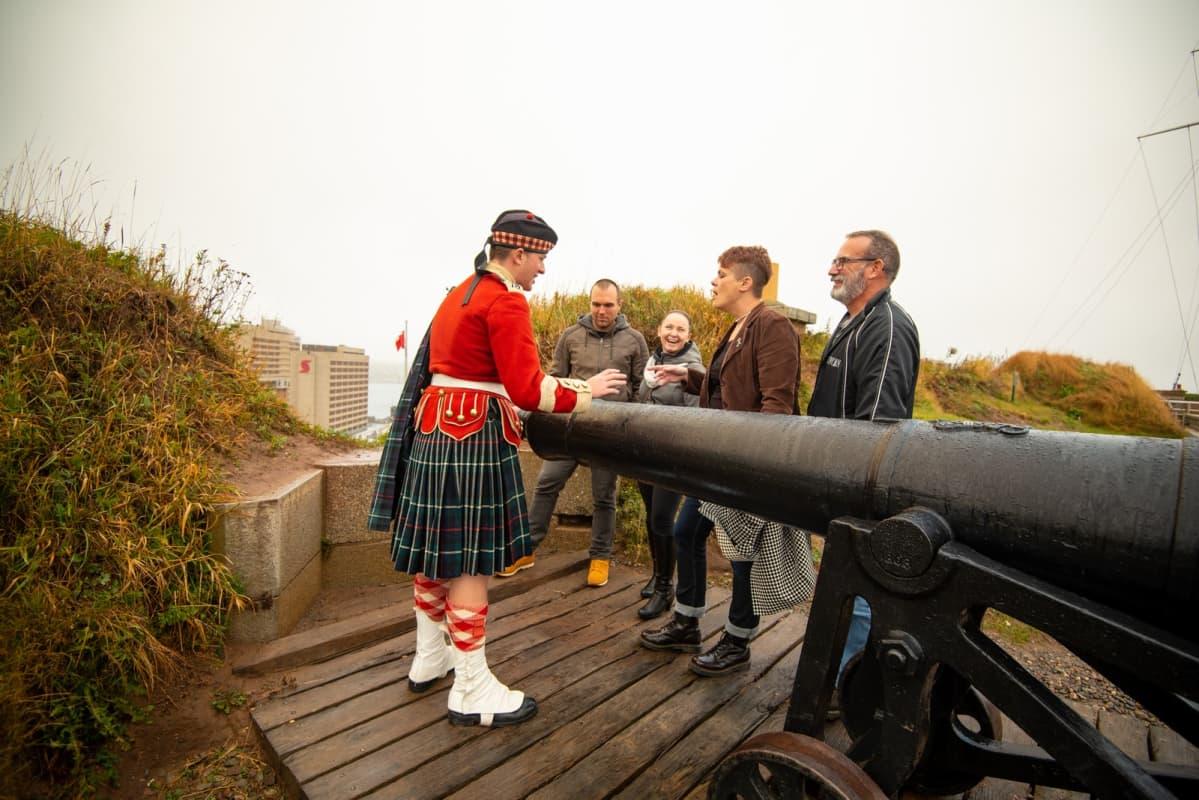 Cannon demonstration Citadel Hill Halifax