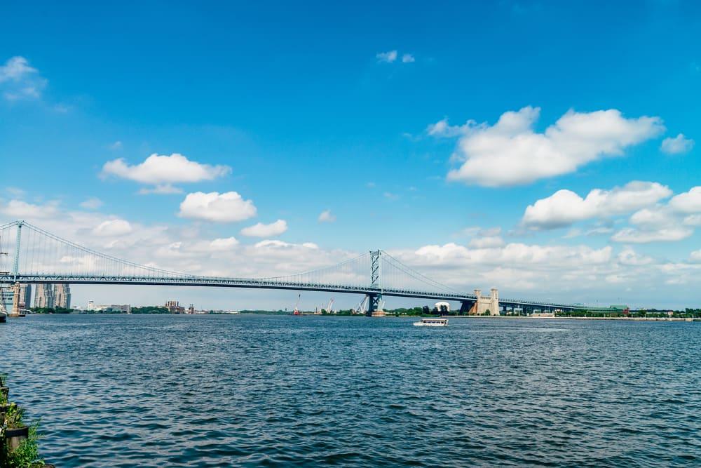Delaware River view in Philadelphia, PA