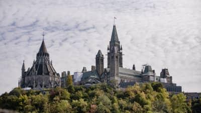 Top of Ottawa Parliament Buildings