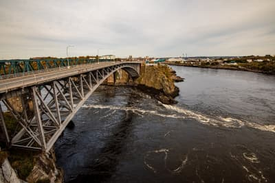 Reversing Falls Bridge in Saint John