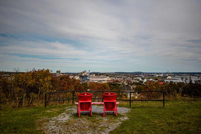 View from Carleton martello Tower Red Chair