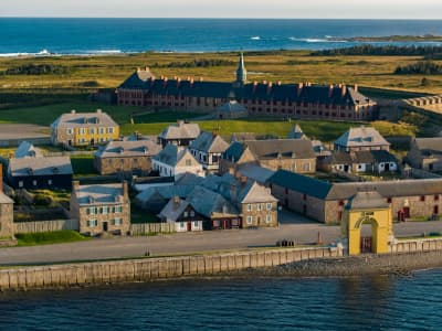 Front of Fortress of Louisbourg - photo credit Parks Canada