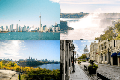multi-day tour of Niagara, Toronto, Ottawa and Montreal