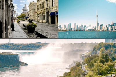 multi-day tour of Niagara Falls, Toronto and Montreal