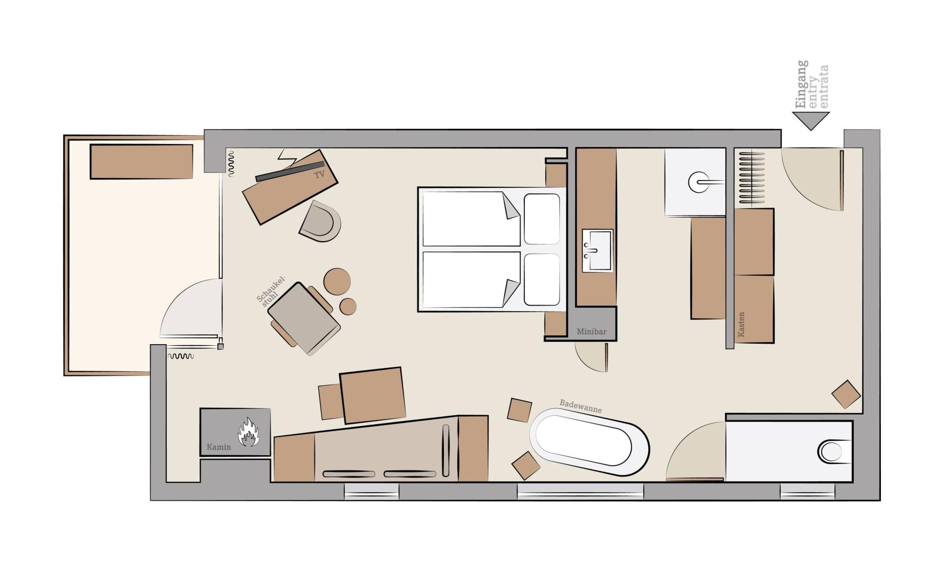 design suiten mit panoramablick auf bad hofgastein. Black Bedroom Furniture Sets. Home Design Ideas